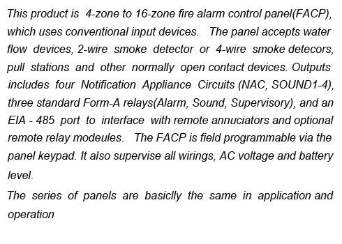Conventional Fire Alarm Control Panel YJ-1100