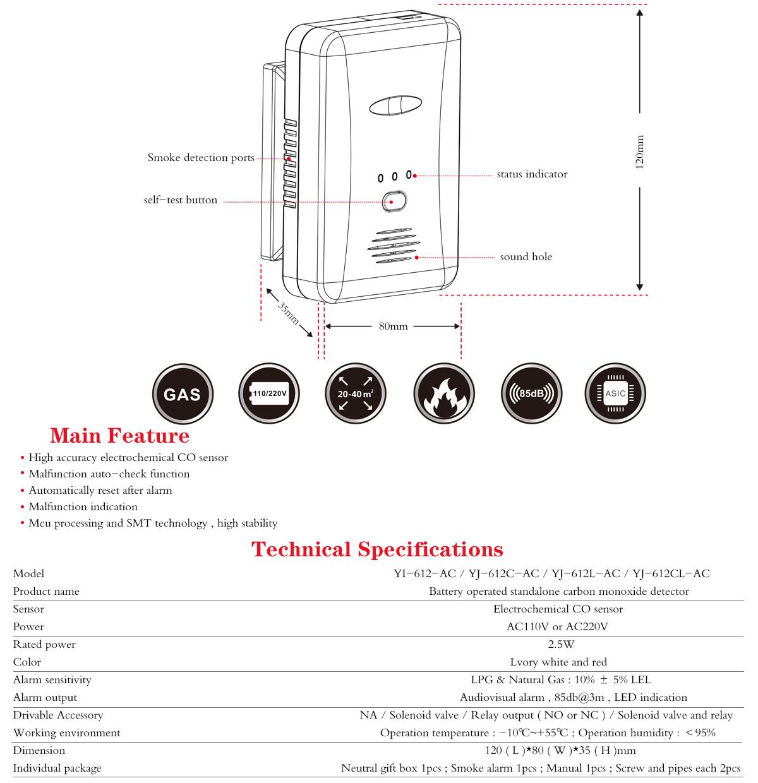 Home Gas Leakage Detector YJ-612